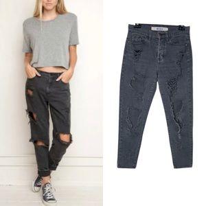 Brandy Melville Destroyed Boyfriend Jeans 25